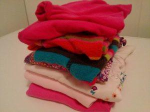 Stapel Wäsche