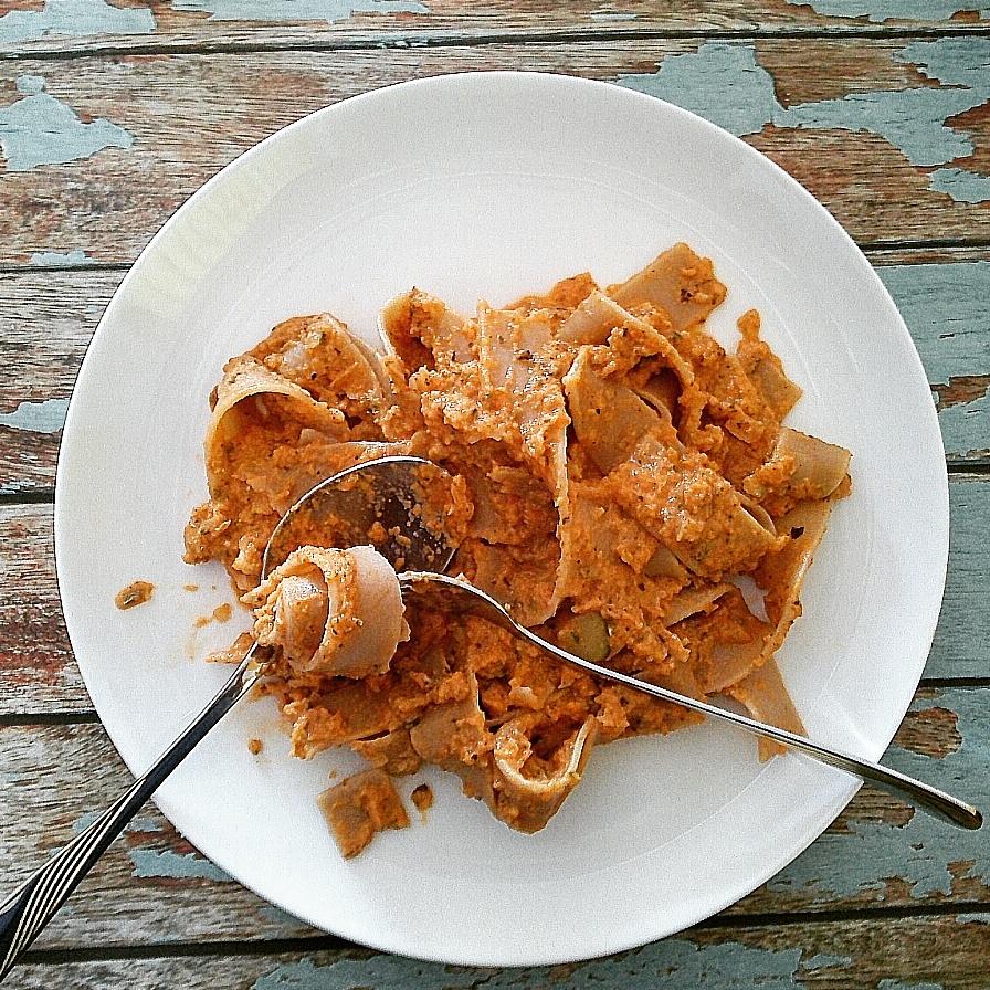Foto von der Pasta mit Zucchinisauce