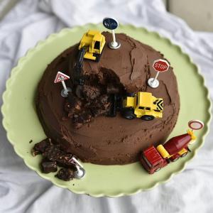 Tut Tut Eine Bagger Torte Fur Das Geburtstagsfest Und Mein Rezept