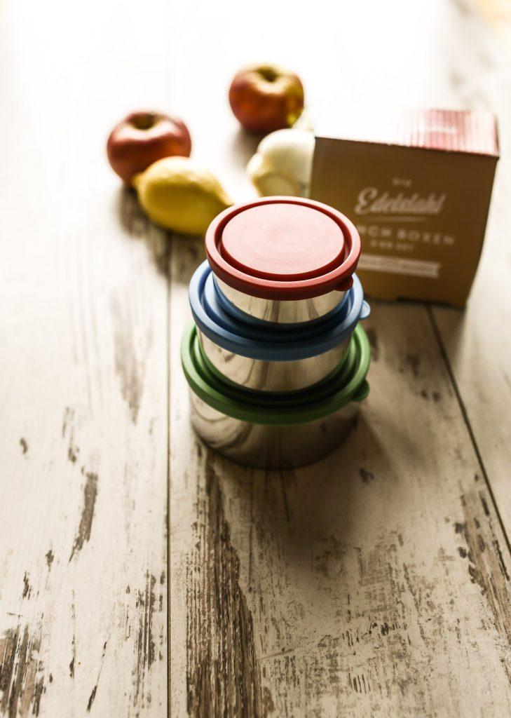 Nachhaltigkeit in der Küche: Foto von Edelstahldosen