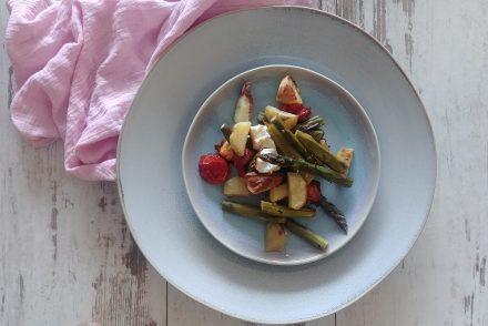 Gemüse im Ofen mit Spargel