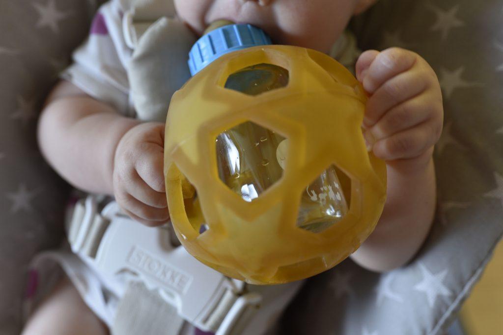 Glastrinkflasche für Babys