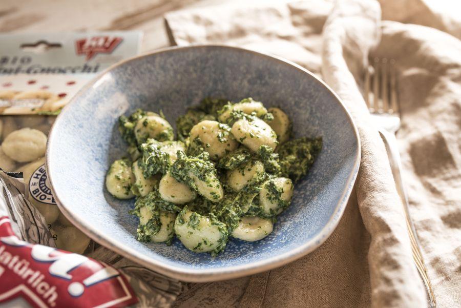 Schnelle Küche: Gnocchi mit Spinat