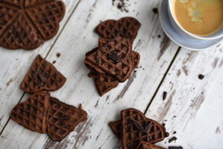 Gesündere Brownie-Waffeln