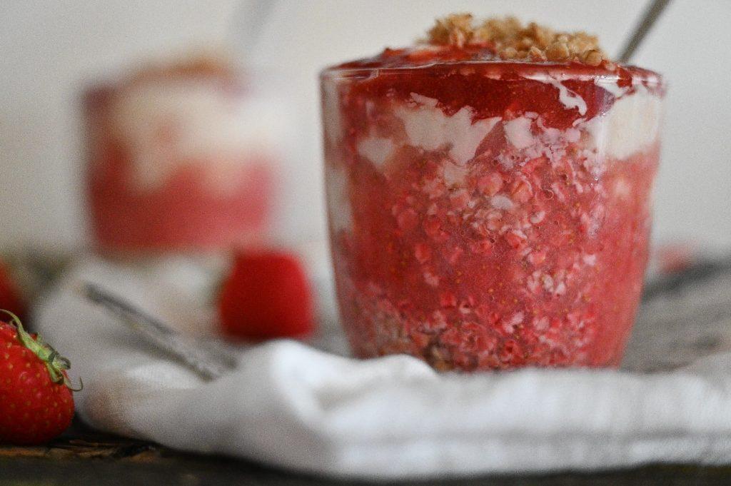 Erdbeer Cheescake im Glas